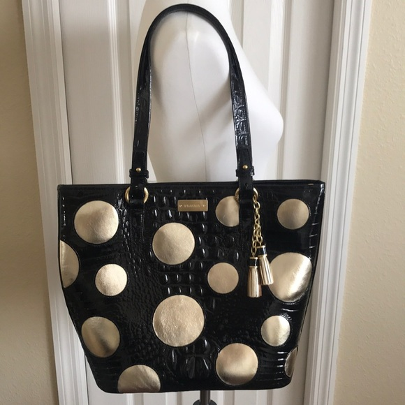 3f1300a71e4a Brahmin Bags   Handbag Nwt Blackgold   Poshmark